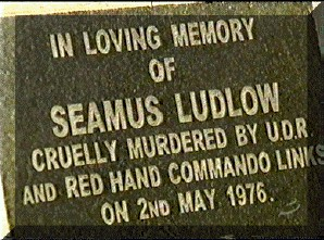 This memorial stone marks the place where the dead body of Seamus Ludlow was discovered on Sunday 2nd. May, 1976. This new stone recently replaced another stone.