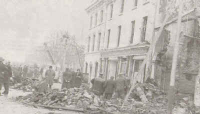 The aftermath of the bombing of Kay's Tavern Bar, 19 December 1975. No one has ever been brought to justice for this loyalist atrocity in Dundalk.