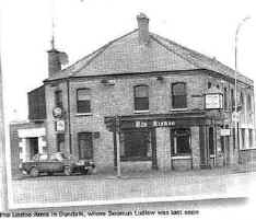 Photograph: The Lisdoo Arms public house on the Newry road just north of Dundalk. Seamus Ludlow was last seen drinking in this bar around 11.30 pm on the night of Saturday, 1st. May, 1976. It is believed that his killers abducted him from the roadside soon afterwards.