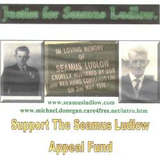 This is the front cover for the CD in aid of the Seamus Ludlow  Appeal Fund